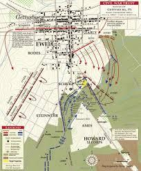 Gettysburg Pennsylvania Map by Gettysburg East Cemetery Hill July 2 1863 Civil War Trust