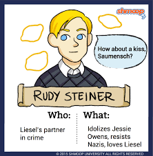 quotes about sudden death of a friend rudy steiner in the book thief