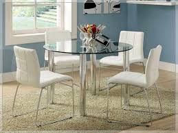 Chair Small Glass Kitchen Table Round Dining With  Chairs White - Glass top tables for kitchen