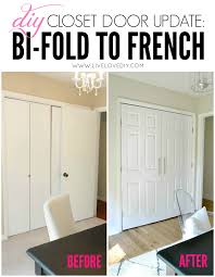 diy closet door update how to update your old bi fold doors to