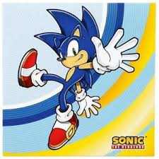 sonic party supplies sonic the hedgehog lunch napkins birthday party supplies 16 per