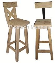 taburete madera silla altas para desayunador madera pino banqueta taburete 445