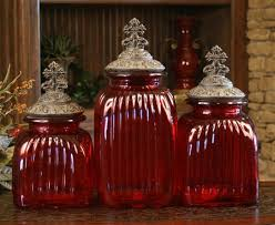 glass canister set for kitchen glass canisters with cross lids set of 3