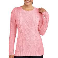 faded womens cable knit sweater walmart