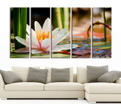wall art water lily large canvas print art home decor ready to wall art water lily large canvas print art home decor ready to hang