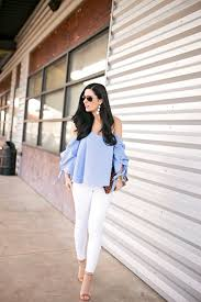 light blue off the shoulder top light blue off the shoulder top gal about town dallas fashion blog