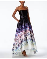 betsy and adam dresses slash prices on betsy adam floral print strapless high low gown