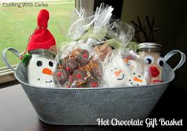 cooking gift baskets cooking with carlee hot chocolate gift basket