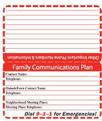 family emergency plan child emergency contacts card just