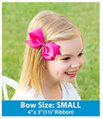 wee ones hair bows wee ones solid grosgrain hair bow in hot pink boutique jojo bow