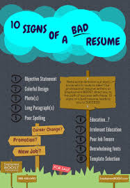 Best Font For Resume Verdana by 10 Signs Of A Bad Resume You Cannot Afford To Miss