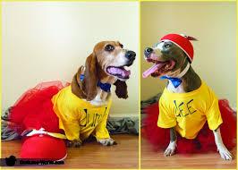 Tweedle Dee And Tweedle Dum Costumes Tweedle Dee And Tweedle Dumb Dogs Costume Photo 3 3