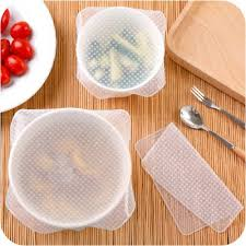 silicone cuisine amazon com reusable food wrap 8 pack eco silicone stretch lids