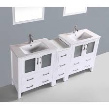 Bathroom Vanities Double Sink 72 by Contemporary 72 Inch White Double Sink Bathroom Vanity Set With Mirror
