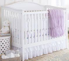 Pottery Barn Ruffle Crib Skirt Genevieve Nursery Bedding Ruffle Skirt W Sheet Rodeo