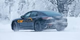 porsche sedan 2016 2016 porsche panamera sleeker second gen sedan spied in the snow