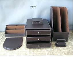 Desk Top Accessories Brown Leather Desk Accessories Leather Desk Accessory Gorgeous