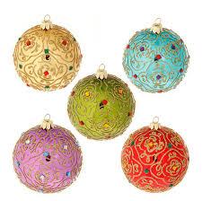 raz ornament delight 4 inch glittered moroccan style
