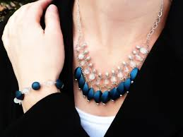 diy beaded layer chain necklace and bracelet set aka the