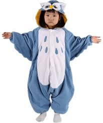 owl costume kids baby boys blue owl costume onesies pajamas polar
