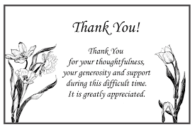 thank you cards for funeral printable thank you cards free printable greeting cards