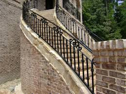 Porch Stair Handrail Iron Fence Outdoor Stair Railings How To Build Outdoor Stair