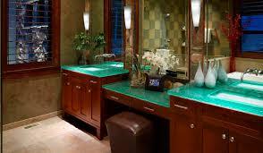 Glass Vanity Countertop Glass Vanity Top Multi Level Master Bath Thinkglass