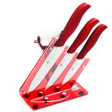 best kitchen set reviews online shopping best kitchen set best three piece ceramic knives gift set plus peeler and red acrylic knives holder xyj brand kitchen knives cooking tools