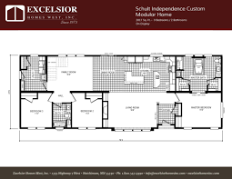 3 bedroom modular home floor plans schult independence custom modular home excelsior homes west inc