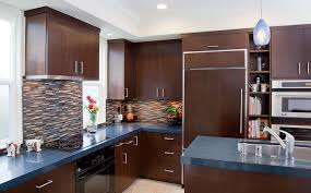 Cabinets With Crown Molding Custom Contemporary Kitchen Cabinets Alder Wood Java Finish Shaker