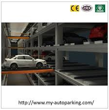 conveyor level movement robtic car car parking system parking lot