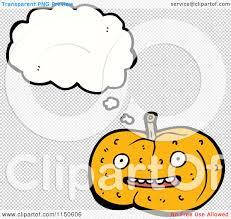 pumpkin no background cartoon of a thinking halloween pumpkin royalty free vector