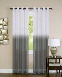 Rodeo Home Drapes by Amazon Com Essential Home Set Of 2 Ombre Sheer Window Curtain