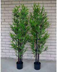 1x 5ft artificial green leaf black bamboo tree 150cm artificial