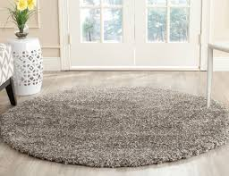 7 Round Area Rug Thick Pile Grey Shag Rug Milan Collection Safavieh Com