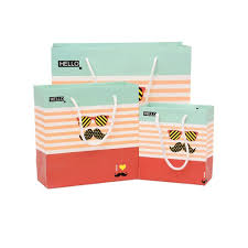thick christmas wrapping paper birthday gift bags thick stripes paper bags with handles 3