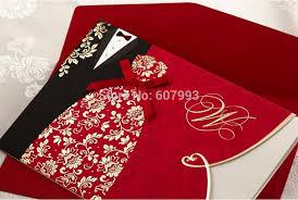 marriage wedding cards aliexpress buy bronzing and groom wedding invitations