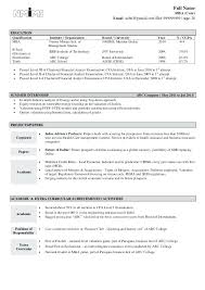 sample of a good resume format hr executive a free resume best