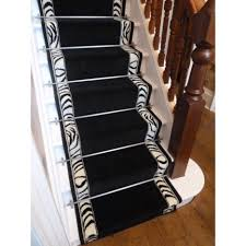 Rug Runner For Stairs Stair Inspiring Straight Stair Design With Brown Printed Leopard