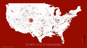 Show United States Map by Map Of Every Fossil Found In The U S Geoawesomeness