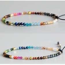 lucky bead bracelet images Eastisan 12 constellation lucky stone simple bracelet 3mm beads jpg