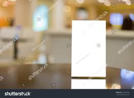 On Table Mock Menu Frame On Table Bar Stock Photo 556749265 Shutterstock