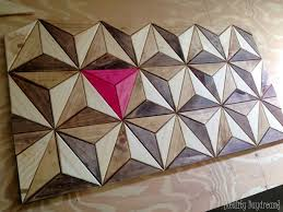3d wooden geometric