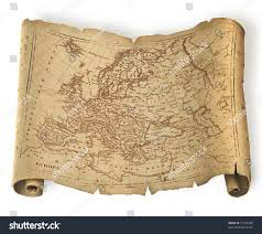 Old Map Of Europe by Old Ragged Map Europe On Paper Stock Illustration 51790780