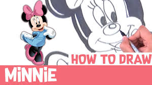 draw minnie step step drawings mickey mouse easy