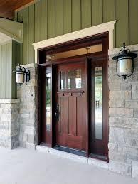 Exterior Door With Window Solid Wood Entry Doors From Doors For Builders Craftsman Style Homes