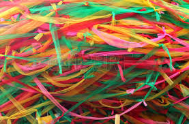 fabric ribbons strips of different colored fabric ribbons decorate a bodhi tree