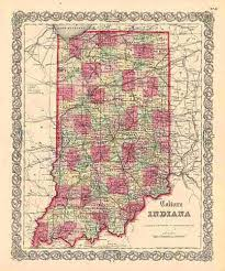 County Map Of Indiana Indiana Maps