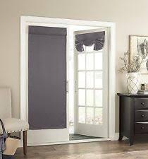 Glass Door Curtains Eclipse 14898026068gre Tricia Thermal Door Panel Grey 26x68 Ebay