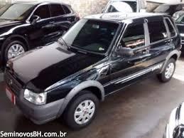 Popular Seminovos BH | Fiat Uno 1.0 8V Mille Way Economy cor Preto 2008/2009 &NK01
